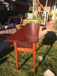Cherry, Wenge, Bubinga side table